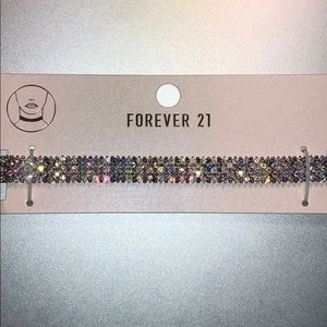 Forever21 Rhinestone Choker